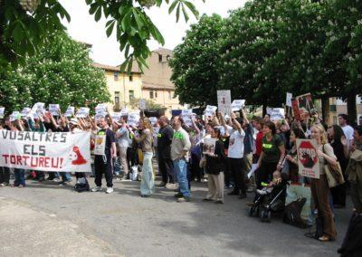 Demo gegen Stierkämpfe